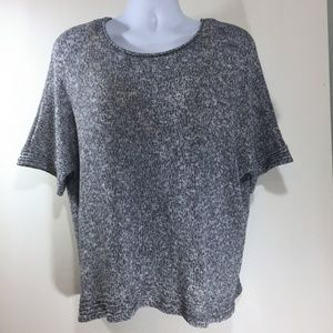 Chico's 3 Stretchy Knit Top Blue White Heather XL